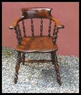 Welsh oak & Fruitwood armchair c. 1830